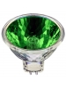 Ushio 1000584 - 50 Watt - MR16 - 12 Volt - Popstar - Green - FNE Spot - Front Glass Cover - 4,000 Life Hours